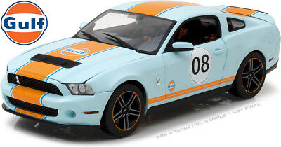 GREENLIGHT GULF OIL 2012 SHELBY GT 500 FORD MUSTANG #08 1/18 LIGHT BLUE 12990, used for sale  Shipping to Canada