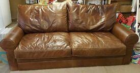 Italian Vintage Distressed Sofa