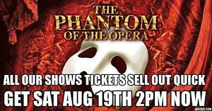 SHOWS SELL OUT FAST ★★Phantom Of The Opera ★★ SAT Aug 19 2PM