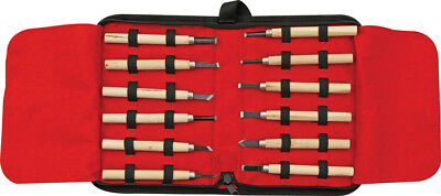 Rough Rider RR641 Wood Carving Knife Set Case (12 Pieces)