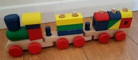 Melissa and Doug- Stacking Train wooden toy