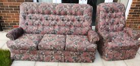 Free 3 piece & armchair