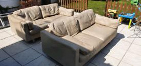 2 x 2 seater leather sofas