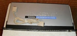Linksys / Cisco SRW2024 24-port 10/100/1000 Gigabit Switch