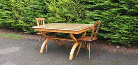 Vintage Solid Oak Kitchen Table