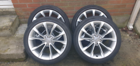 """Genuine 18"""" alloys from Audi A5- with tyres- excellent condition"""