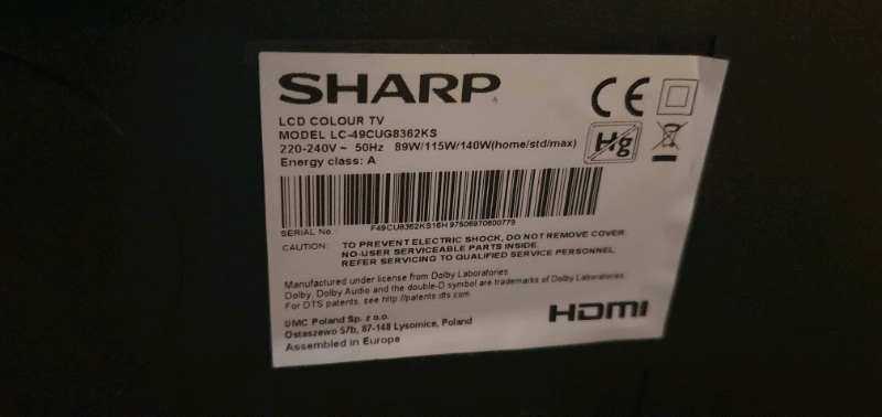 Sharp Aquos 49 inch UHD Smart HDR 4k tv | in Southport, Merseyside | Gumtree