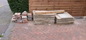 Paving slabs + driveway bricks red&black free