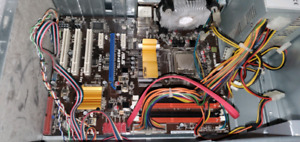Motherboard CPU and case Intel quad core