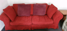 Long 3 seater sofa with removable washable covers .