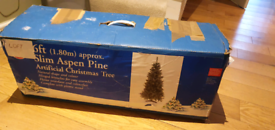 Large & Mini Christmas Trees with Decorations
