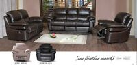 ★LORD SELKIRK FURN★3PC LEATHER MATCH RECLINER SET★$2299.00