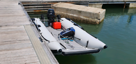 2017 takacat 340 boat only/ wheels/ high pressure pump/ rod holder