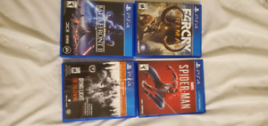ps4 spiderman, farcry primal,battlefront 2, dying light FIRM