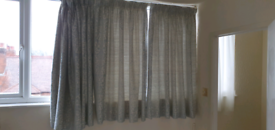 Good quality curtains - turquoise and cream