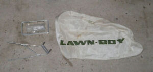 my Lawnboy Scamp/Utility side grass bag for mulch cover & blade