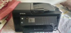 Epson wf-3520 all in one fax scan copy print. need head clean
