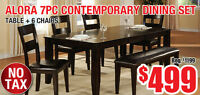 Alora 7pc Contemporary Dining Set, 4599 Tax Included!