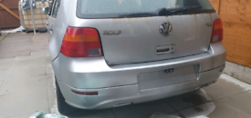 Golf mk4 r32 style rear bumper in abs plastic