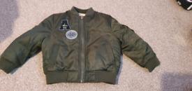 Reversable bomber jacket 12-18m