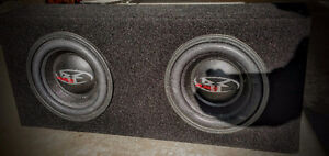 "2  10"" Rockford PUNCH Subwoofers with a 150 amp"