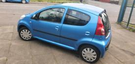 Peugeot 107 1 litre 5 doors Long Mot No faults Cheap Tax £20 a Year