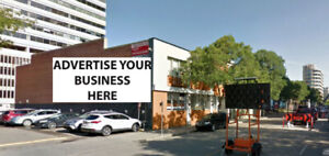 ADVERTISING SPACE AVAILABLE FOR RENT IN DOWNTOWN