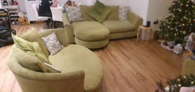 DFS Shaldon Lime Green Sofa Set