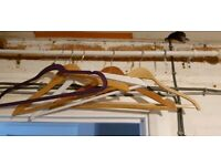 ⚡⚡5 Wooden and fabric coat hanger ⚡⚡