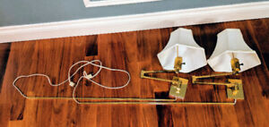 Brass Swing-Arm Sconce Lamps (Pair)