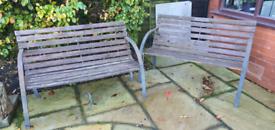 Vintage garden bench.