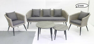 Blowout Floor Model Outdoor Conversation Sets and Sectionals
