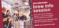 KPU Brewing Info Session At Red Truck Beer