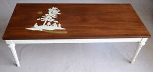 """Muskoka"" Stenciled Coffee Table"