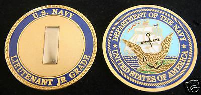 US NAVY LIEUTENANT JUNIOR GRADE USS LTJG CHALLENGE COIN USS OFFICER PIN UP FMF