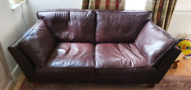 Stunning M and S Leather sofa