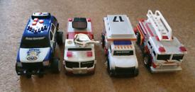 Toy Emergency vehicles cars vans lorry trucks