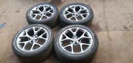 """Vauxhall astra corsa vectra vxr 18"""" alloys 5x110, fresh refurb"""