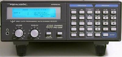 Radio Shack Pro 2006 Pro 2005 Pro 2022 Scanner Electroluminescent Panel Display