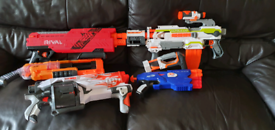 Collection of Nerf guns (no bullets)