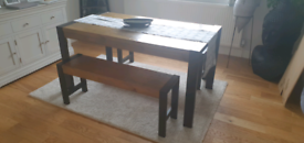 Next Bronx Dining table & benches