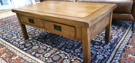 Solid Oak coffee table from oak furniture land