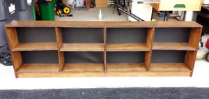 Brown Wood Bookshelf Wall Unit Adjustable