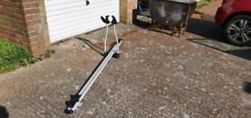 Tandem bicycle roof rack