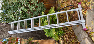 Aluminium articulating extension ladder
