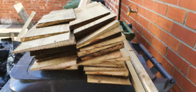Free off cuts of feather edged boards