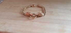 **REDUCED** 9ct Solid Gold Bespoke Dragon Head Bracelet