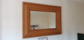 Solid oak mirror