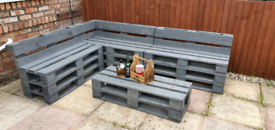 Pallet couch / benches/ tables