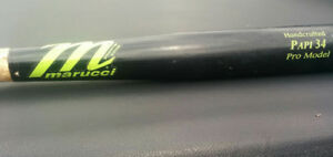 Marucci Papi 34 Pro model maple 33 inch wood bat used